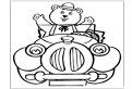 Ursuletul Tubby in masina