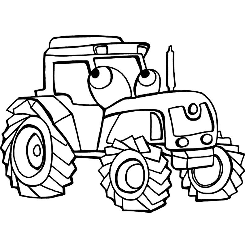 Tractor de colorat