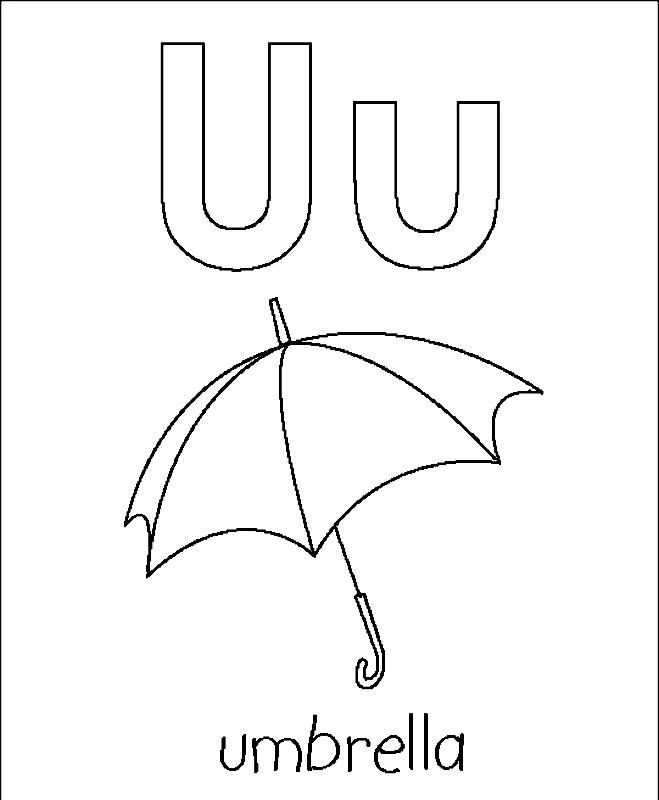 Coloreaza litera U