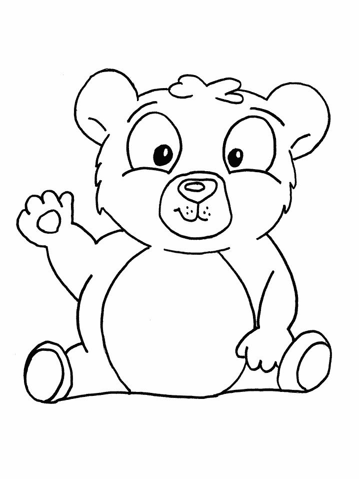 Plansa de colorat cu un urs