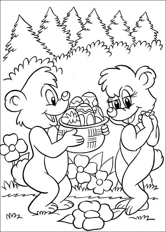 Ursuletul daruieste oua de Paste