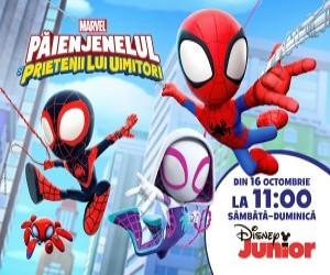 """Serialul """"Paienjenelul Marvel si prietenii lui uimitori"""" are premiera pe 16 octombrie la Disney Junior"""