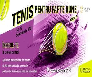 Asociatia The Social Incubator lanseaza cea de a doua etapa a turneului Tenis Pentru Fapte Bune pe 24-26 septembrie
