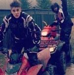Justin Bieber si Lil Twist la o plimbare cu atv-ul