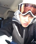 Justin Bieber la ski