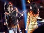 Katy Perry si Lenny Kravitz la finala Super Bowl 2015