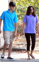 Justin Bieber si Selena la Zoo