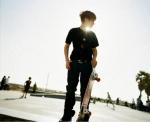Justin si skate-ul