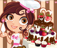 Cute Baker Wedding Cake