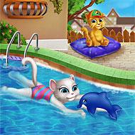 Talking Angela Swimming Pool
