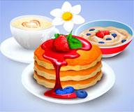 Cooking Fruit Pancakes