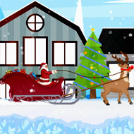 Santa and Rudolph Sleigh Ride