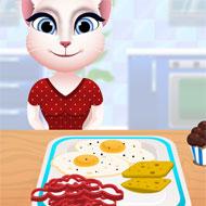 Talking Angela Cooking Breakfast